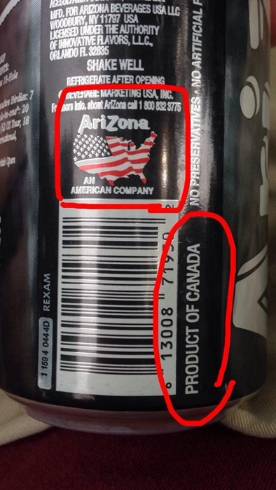 Canada,arizona tea,arizona