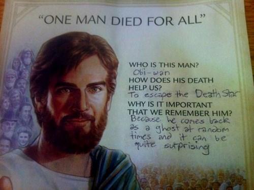 jesus obi-wan kenobi star wars jesus christ - 8255819520