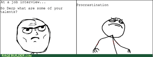 procrastination,job interview