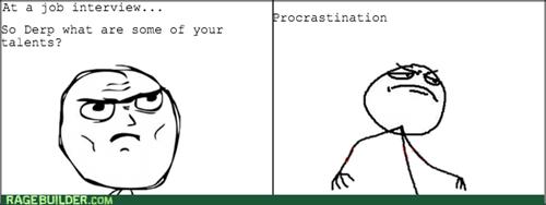procrastination job interview - 8256342016