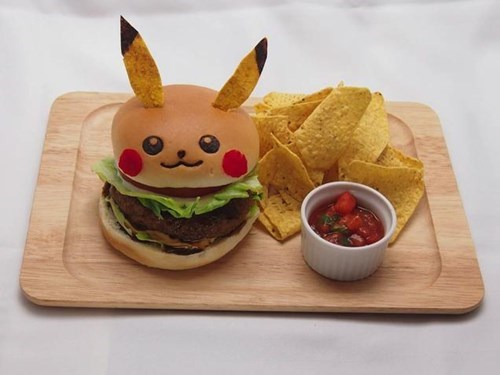 Pokémon,pikachu,Japan,food,burgers
