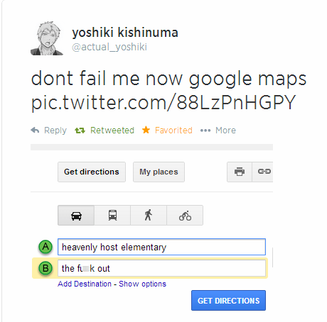 google maps,anime,corpse party