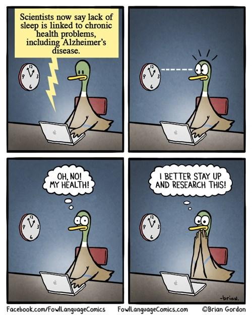 ducks sad but true alzheimers sleeping web comics