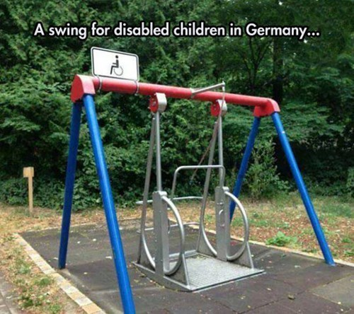 accessible Germany swing playground parenting g rated