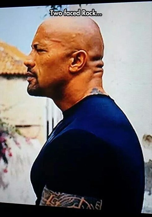 funny two-faced the rock - 8256585728