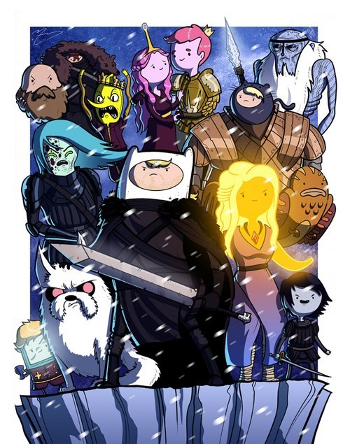 adventure time,crossover,cartoons,Fan Art,Game of Thrones