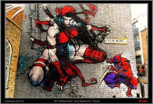 elektra marvel Street Art nerdgasm hacked irl - 8256630272