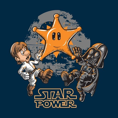 star wars,Super Mario bros,tshirts