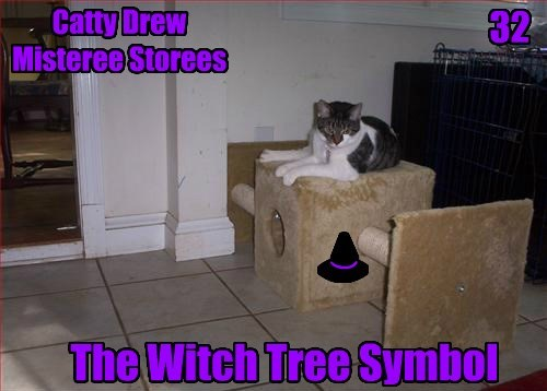 ( ) __ < . ( Catty Drew Misteree Storees 32 The Witch Tree Symbol