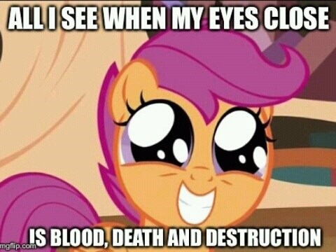 chicken Scootaloo don't close your eyes - 8256984576