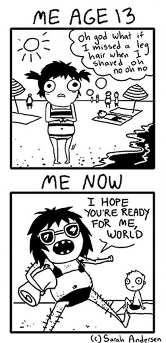 confidence beach legs web comics - 8257362176