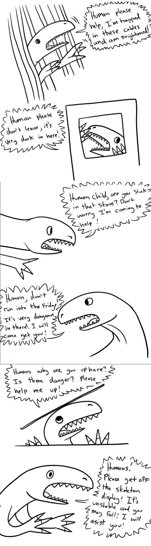 velociraptors jurassic park dinosaurs web comics - 8257380096