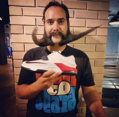 logo mustache beard facial hair poorly dressed swoosh nike moustache - 8257417728