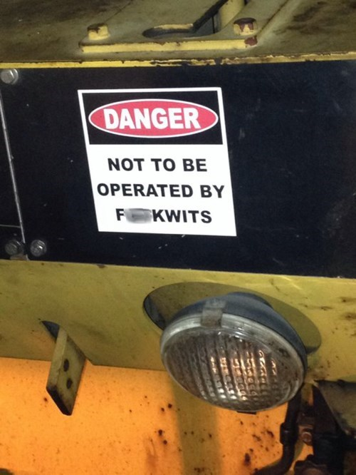monday thru friday sign danger safety first - 8257421056