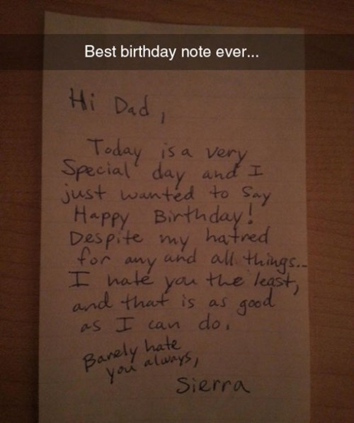 letters birthday note parenting dad - 8257431552