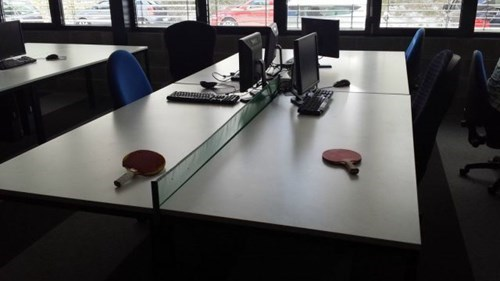 monday thru friday,ping pong,open office,table tennis,g rated