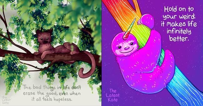 motivation art cute illustration animals - 8257541