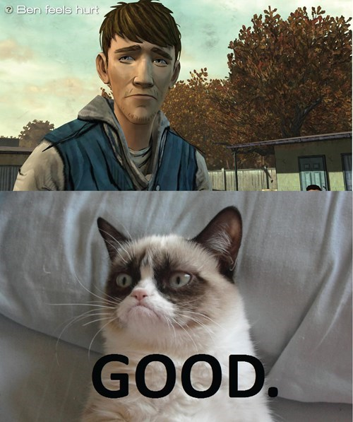 ben The Walking Dead Grumpy Cat - 8257542144