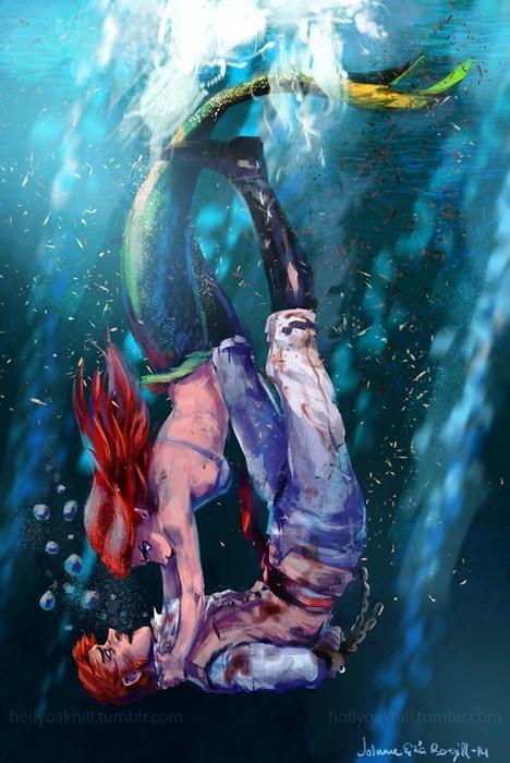 crossover cartoons Fan Art frozen The Little Mermaid - 8257637632
