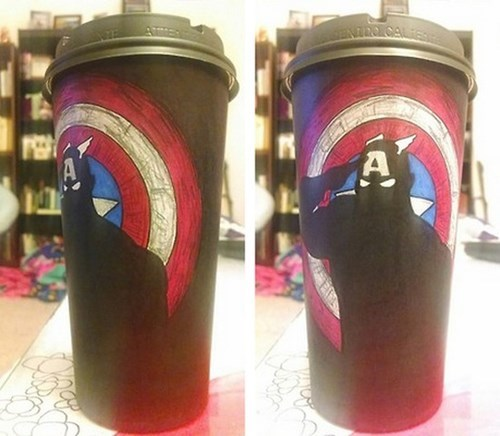 captain america coffee nerdgasm - 8257647360