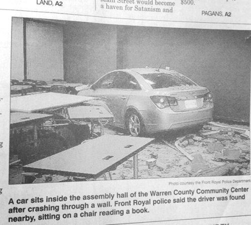 cars crash newspaper - 8257650688