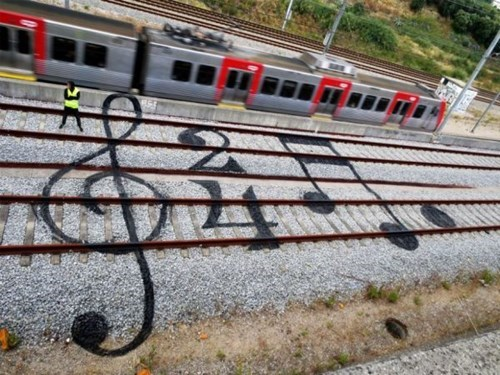 Street Art Music hacked irl trains - 8257655296