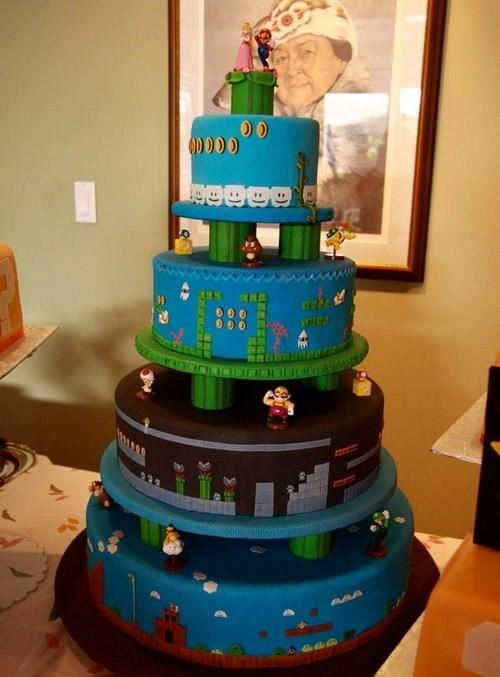 Super Mario bros wedding cake - 8257659136