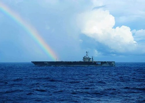 military,rainbows,aircraft carriers