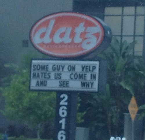 monday thru friday,sign,yelp,g rated