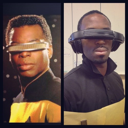 costume TNG cosplay poorly dressed levar burton Star Trek Star trek the next generation Geordi Laforge g rated - 8258511360