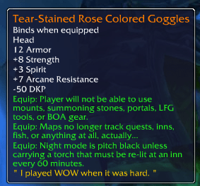 world of warcraft legendaries rose colored glasses - 8258690816