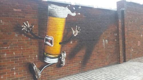 beer brain funny graffiti - 8258721280