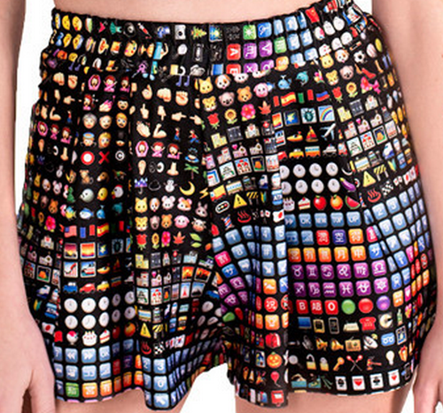 emoji shorts poorly dressed - 8258768384