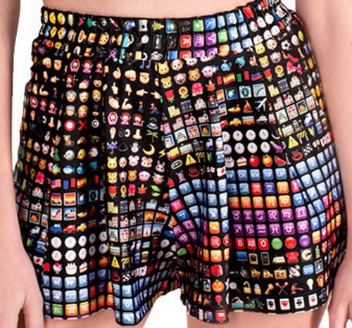 emoji shorts poorly dressed - 8258768384