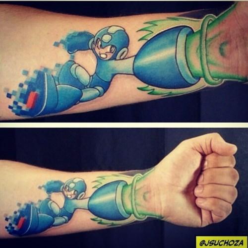 mega man tattoos - 8258783488