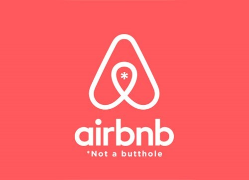 Logo - airbnb Not a butthole