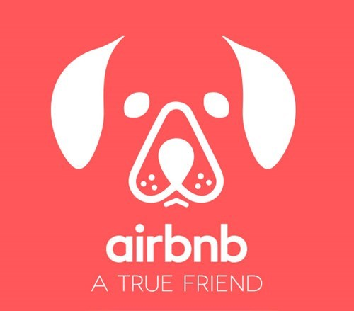 Logo - airbnb A TRUE FRIEND