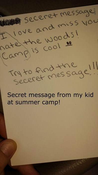 secret summer camp kids letters note parenting - 8259544576