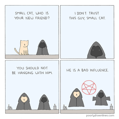 Cats,satan,influence,web comics