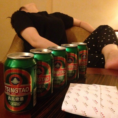 beer funny passed out tsingtao - 8259719424