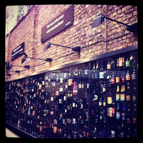 The Wall of Beer in Bruges