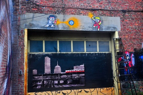 Street Art nerdgasm hacked irl put sagat in cheezburger - 8259763456