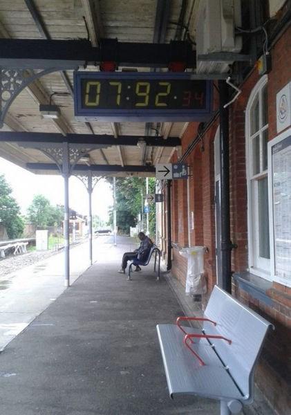 clock,commute,monday thru friday,train station