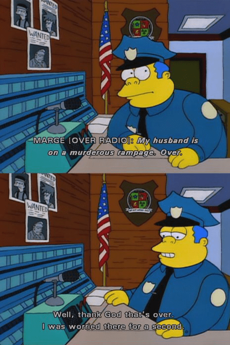 the shining cops stupid the simpsons - 8259909376