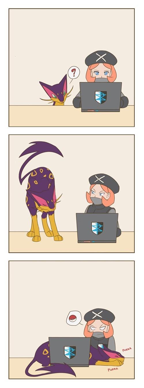 Pokémon Fan Art liepard Cats web comics - 8260122112