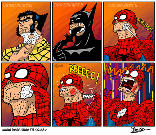 shaving,Spider-Man,web comics