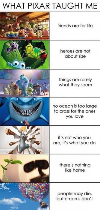 Who Needs Life Lessons When You've Got Pixar?