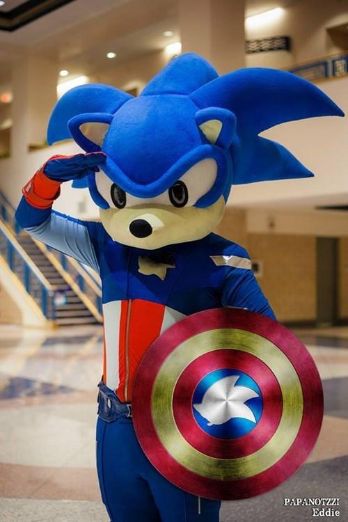 captain america cosplay sonic - 8262258944