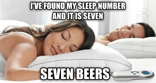 beer,sleep number,sleep