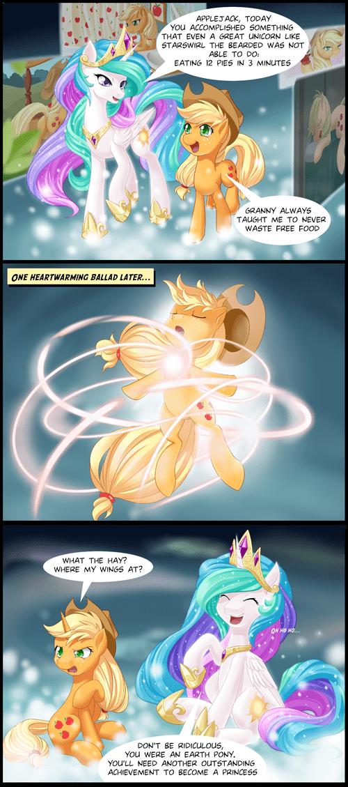 alicorn applejack princess celestia - 8262524672